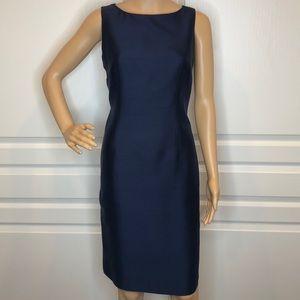 Talbots Silk Sheath Navy Blue Dress Size 4